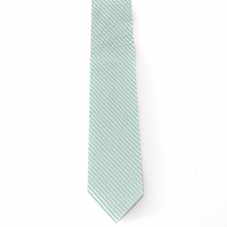 Seersucker Tie- Turquoise - Just Madras