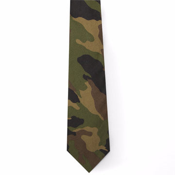 Printed Oxford Tie- Camo - Just Madras