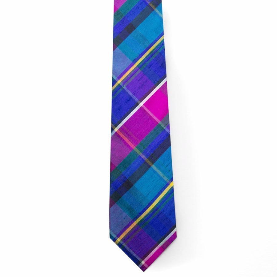 Silk Tie- Palm Beach Plaid