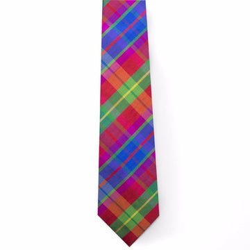 Silk Tie- Confetti Plaid