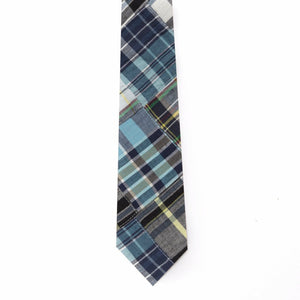 Patchwork Madras Tie- Annapolis - Just Madras