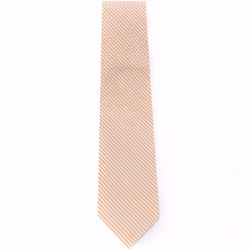 Seersucker Tie- Orange - Just Madras