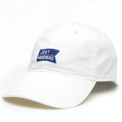 Just Madras X Smathers & Branson Baseball Hat- White - Just Madras