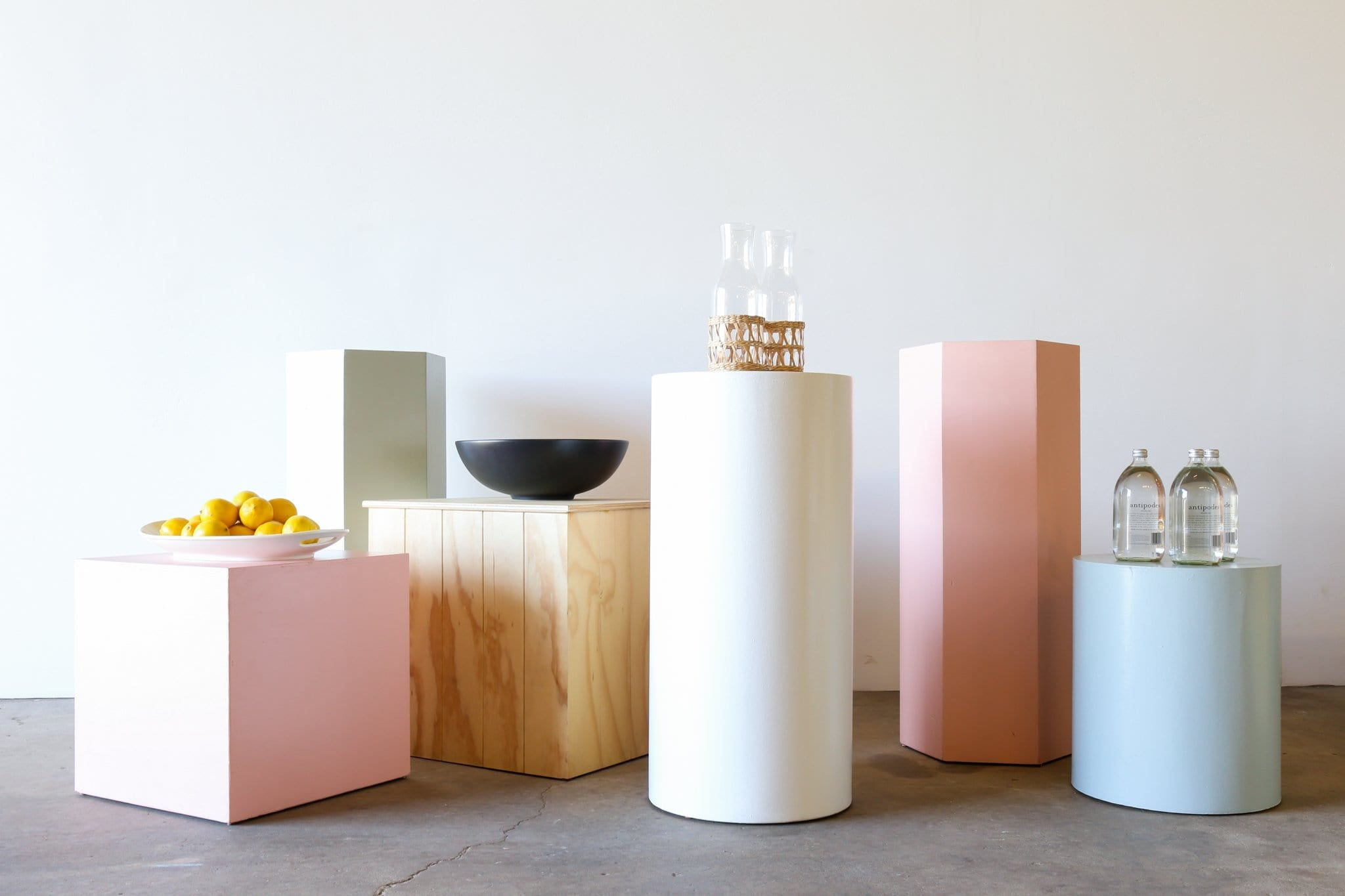 BK Plinth - HEXAGONAL PINK PARTY