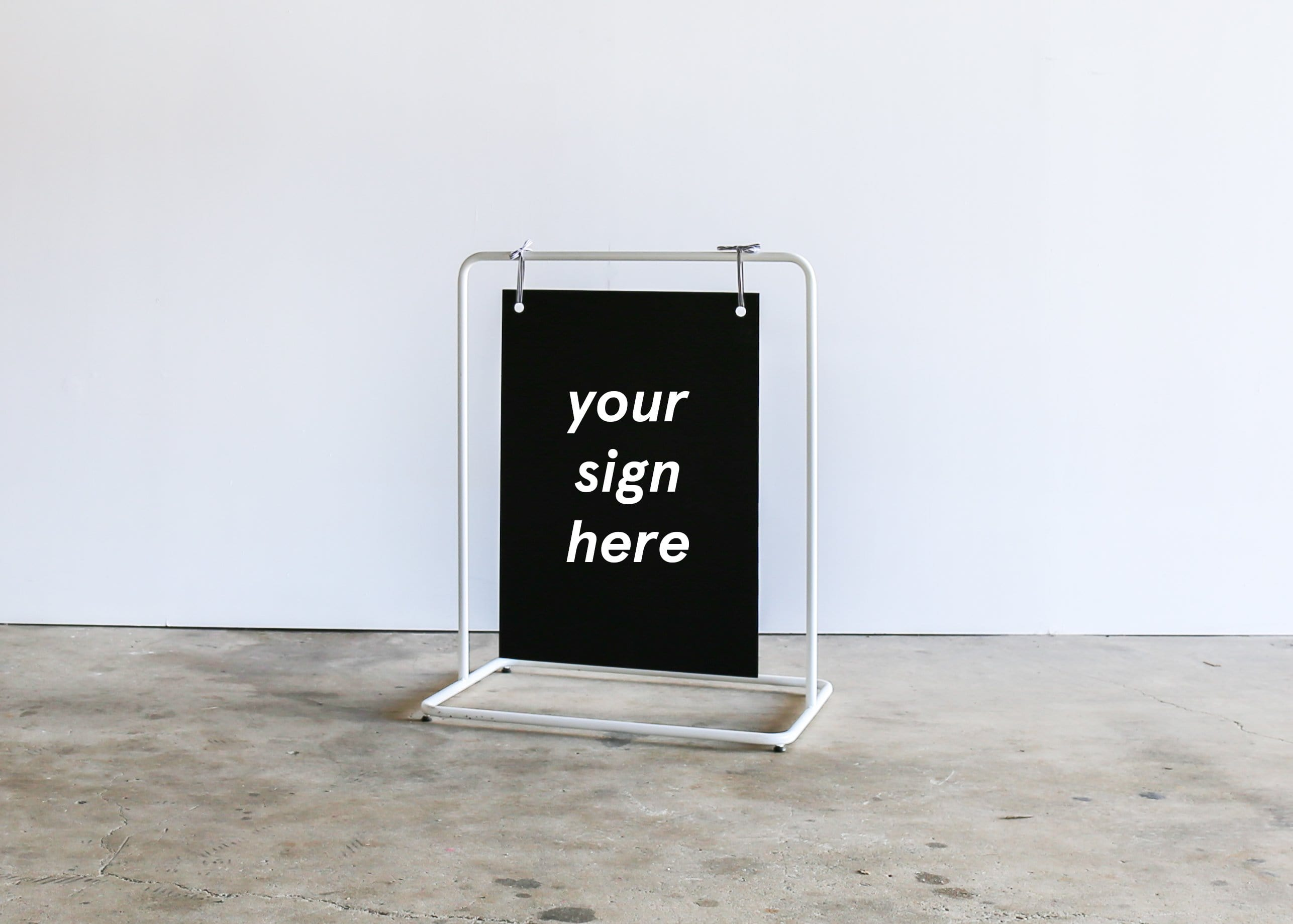 HANG IT UP Sign - SMALL WHITE