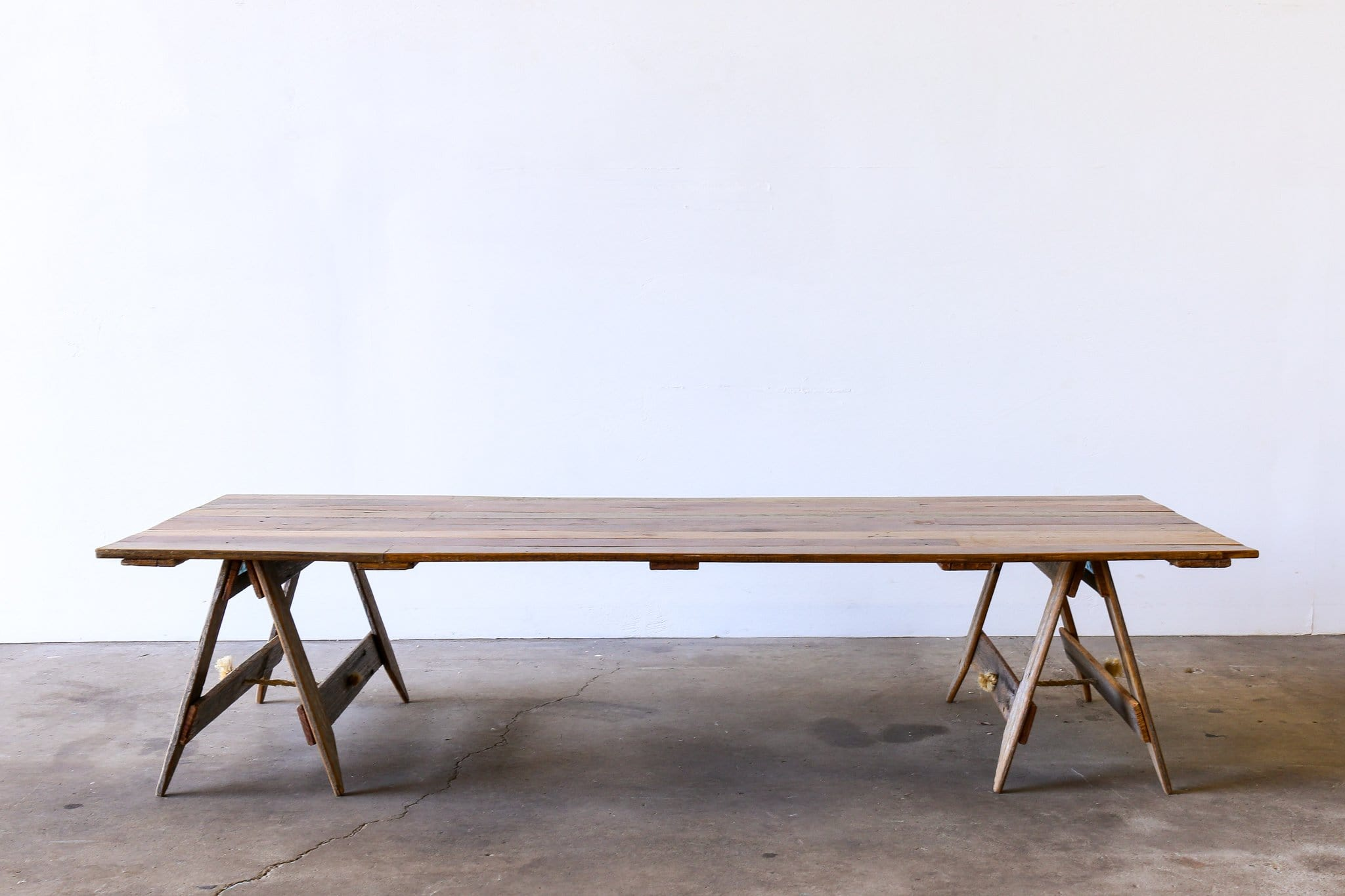 TRADITIONAL Trestle Table - LOW