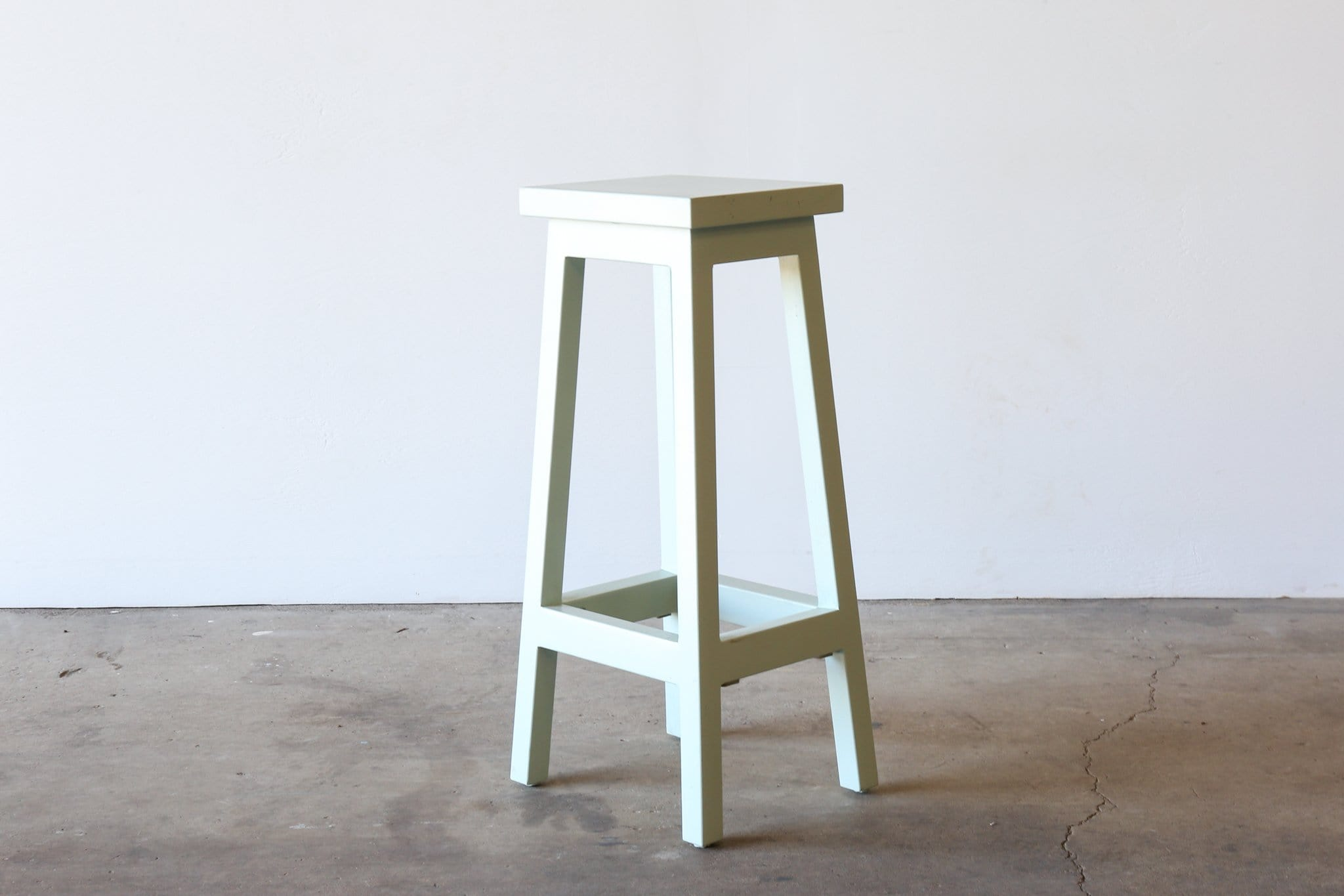 SHER-BERT Painted Stool - POWDERED GUM COLOUR