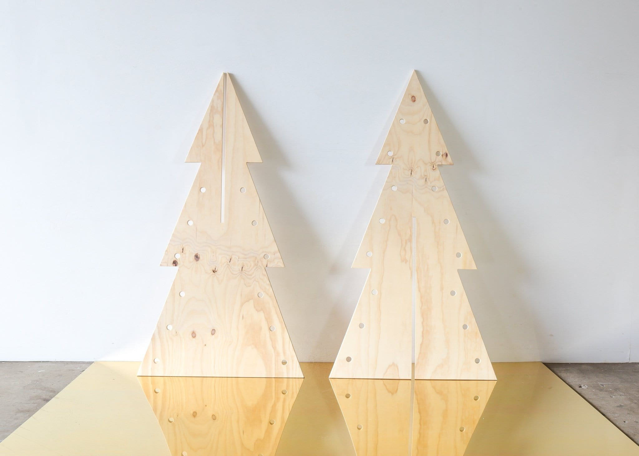 Mrs Claus Pegboard Christmas Tree - MEDIUM