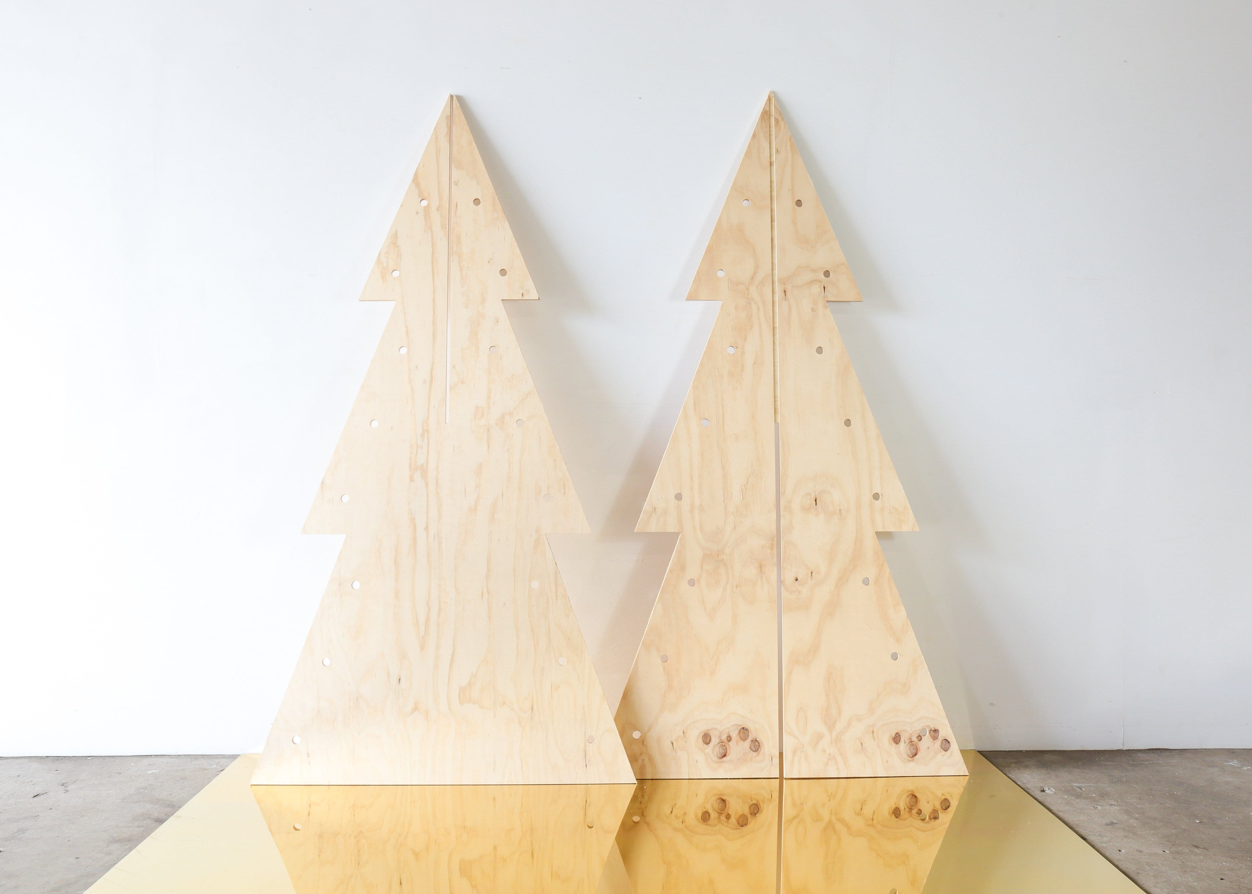 Mrs Claus Pegboard Christmas Tree - LARGE