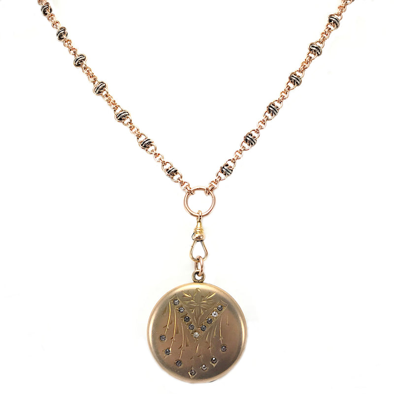 Antique Engraved Floral Locket