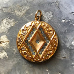 Antique Locket with Diamond-Shaped Design