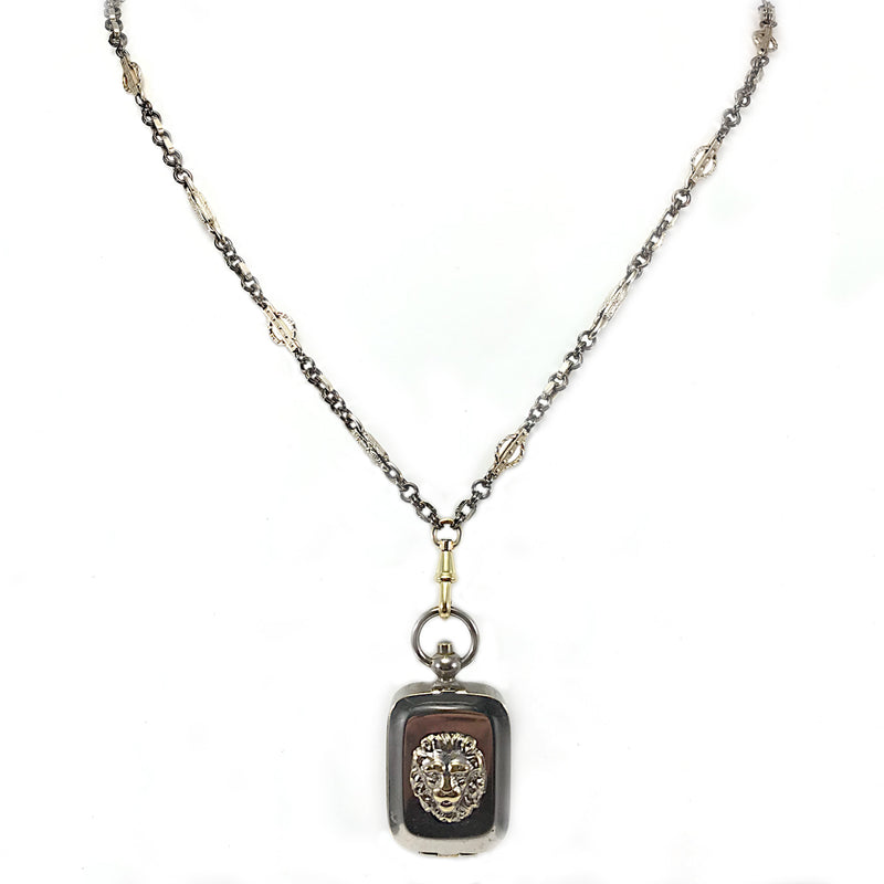Lion Steel Locket