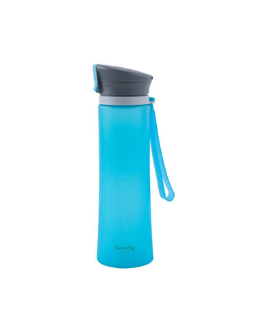 Flip-Top Silicone Coated Glass Water Bottle (600ML)