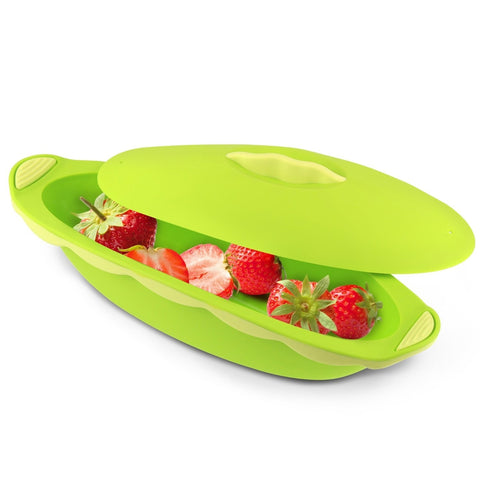 Oval Shape Container - Green