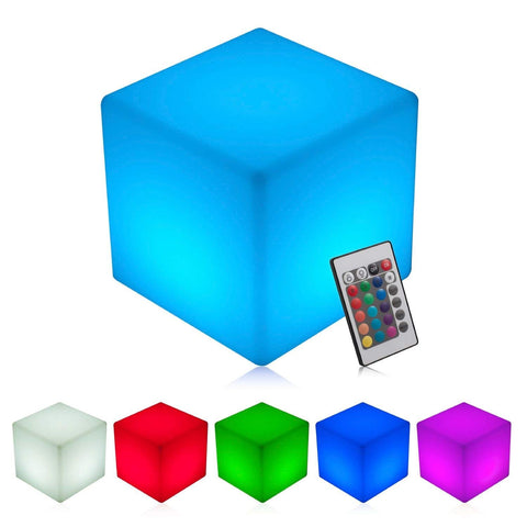 Waterproof LED Cube Light - 8 inch