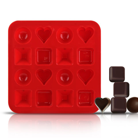 Silicone Square Heart Circle Chocolate Mold