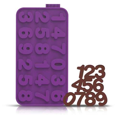 Silicone Chocolate Chip Mold - Number