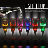 LED Champagne Glass Set