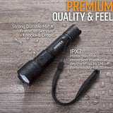 USB Rechargeable LED Flashlight w/ lanyard