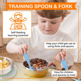 Arctic Animal Training Spoon & African Animal Fork Set