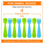Asian Animal Training Spoon & Aquatic Animal Fork Set