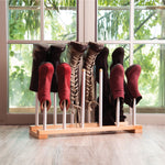 Modern Boot Rack - 6 Pairs (Birch & Steel)