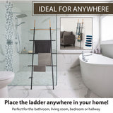 Freestanding Towel Ladder Rack