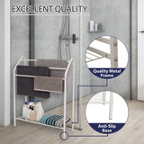Bathroom Towel Rack with Storage Shelf