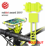 2-in-1 Universal Bicycle Phone/Power Bank Holder - Neon Green