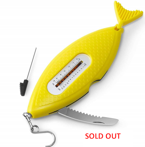 5-in-1 Multi-Tool for Fishing, Yellow Fish
