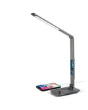 Aluminum LED Desk Lamp w/Display - Gray