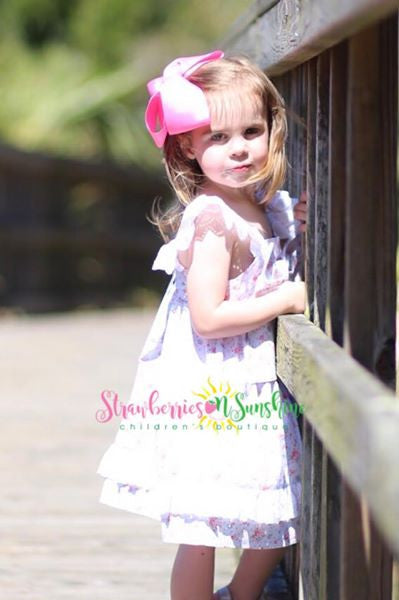 Blue Eyelet Summer Sundress