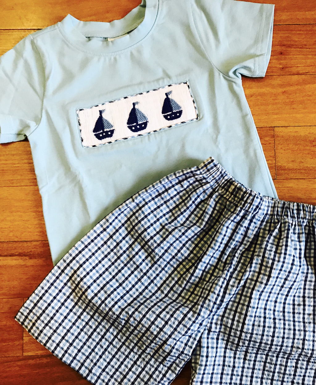 Boys' Sailboat Short Set