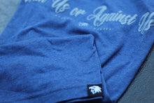 Men's Script Tee-Heather Blue