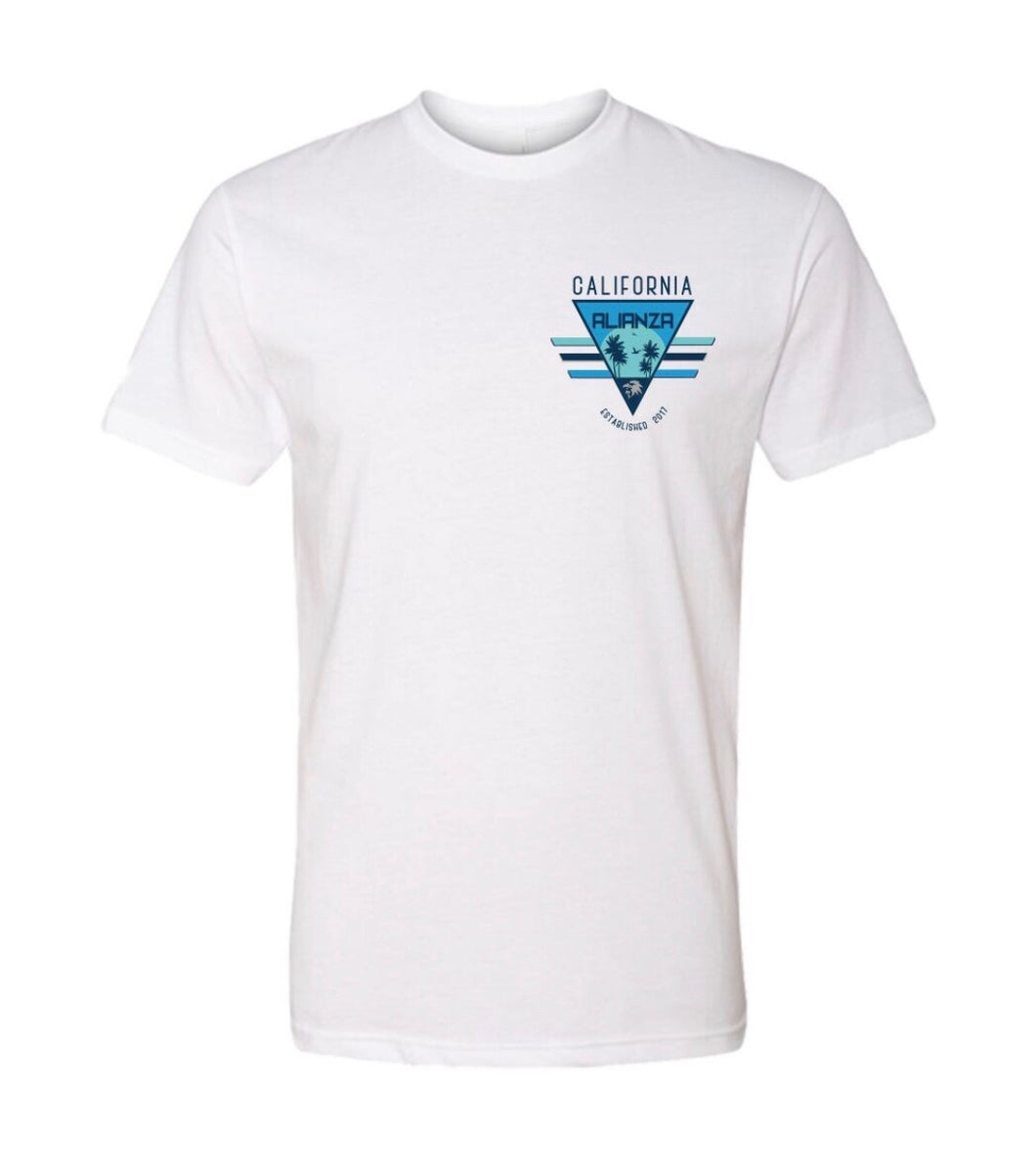California Triangle Tee White