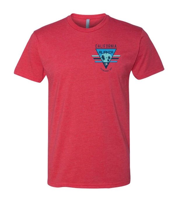 California Triangle Tee Red