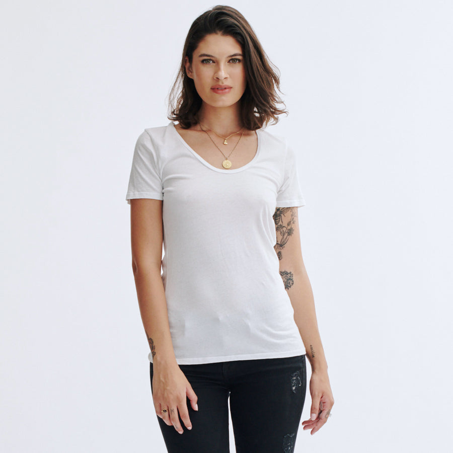Swoop Neck Tee
