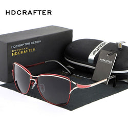 2017 HDCRAFTER Cat Eye  Metal Frame Polarized Fashion glasses