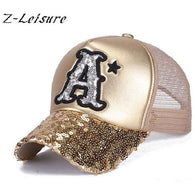 2017 Baseball Cap Sequins Bling Caps Adjustable Snapback  Gorra  BC037