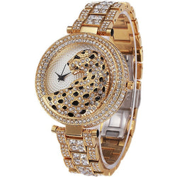 Casual Ladies Watches Waterproof NOBDA Crystal Diamond Tiger