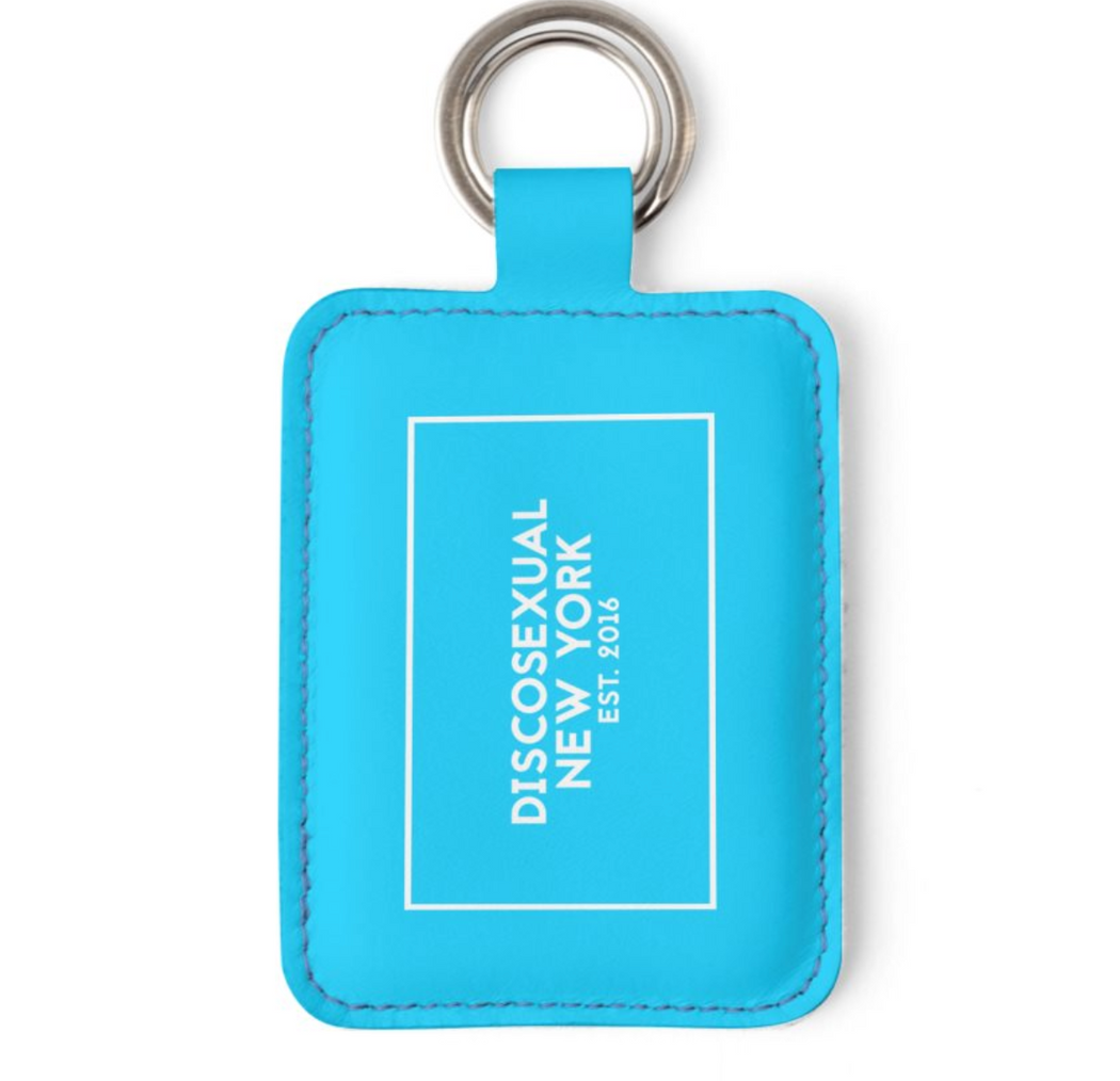 "DISCOSEXUAL ""Baby Blues"" Leather Key Holder"