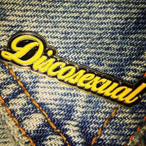 "DISCOSEXUAL ""Solid Gold"" Enamel Pin (Limited Edition)"