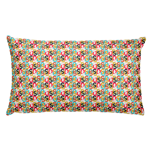 "DISCOSEXUAL ""Bi-Couleur Monogram"" Multicolore Cushion"