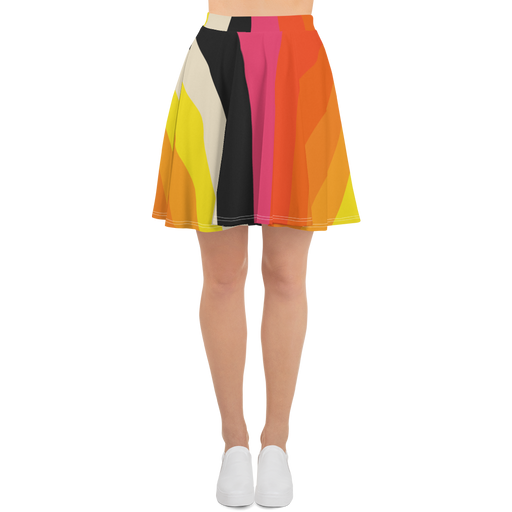 DISCOSEXUAL Striped Skater Skirt
