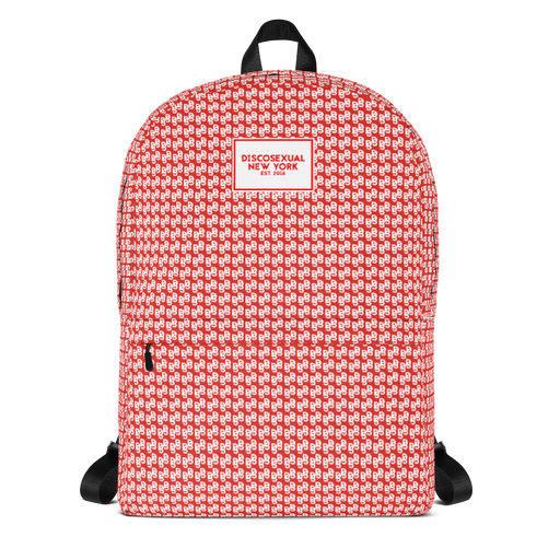 "DISCOSEXUAL ""Red Monogram"" Backpack"