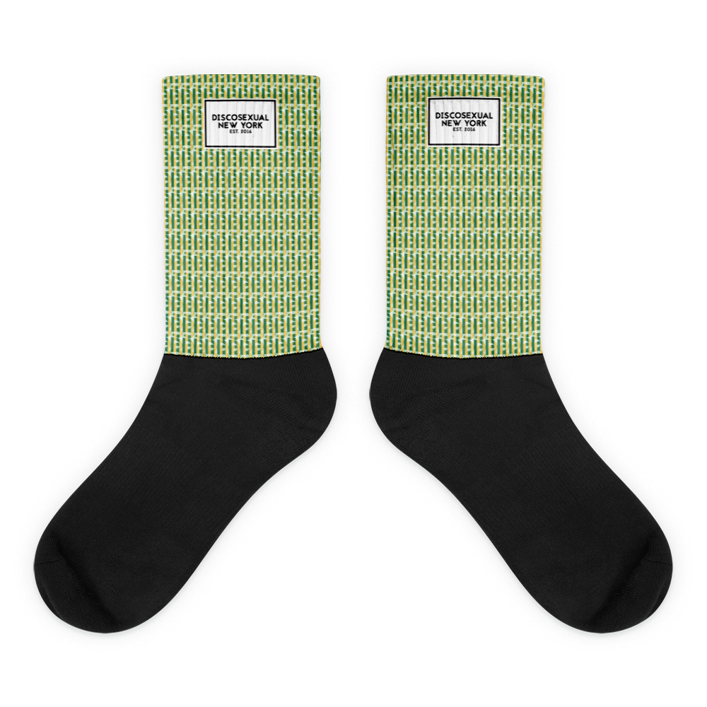 "DISCOSEXUAL ""Monogram Stripe"" Socks"
