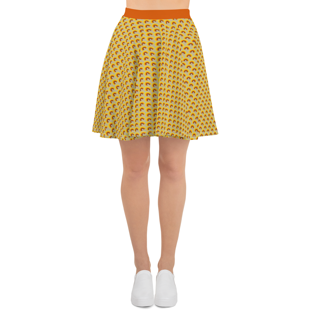 "DISCOSEXUAL ""Caldor"" Patterned Skater Skirt"