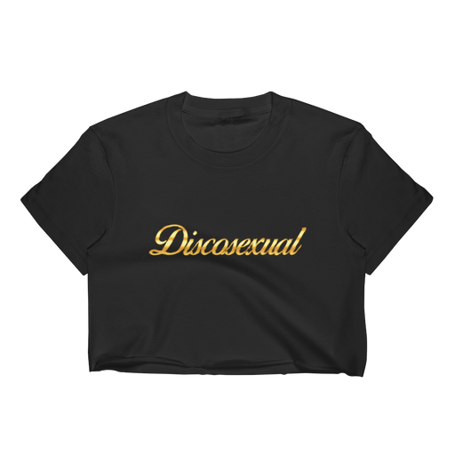 "DISCOSEXUAL ""Solid Gold"" Crop Top"