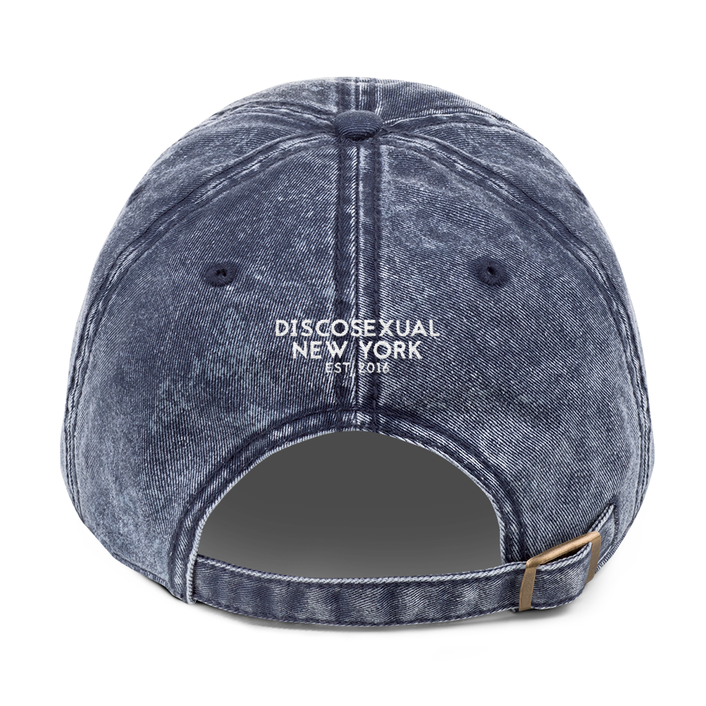 "DISCOSEXUAL ""Solid Gold"" Distressed Cap"