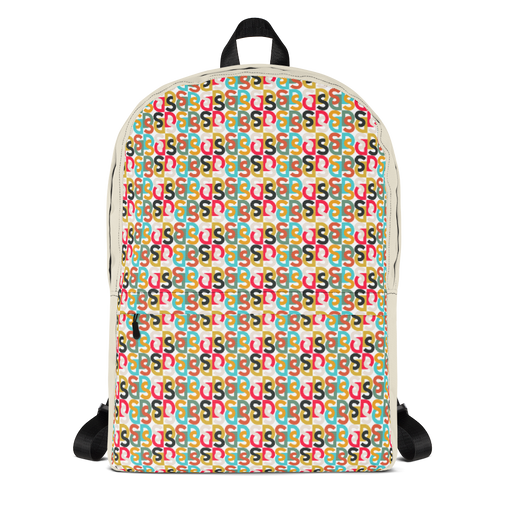 "DISCOSEXUAL ""Bi-Couleur Monogram"" Multicolore Backpack"